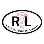 Radio-Locator Oval Sticker