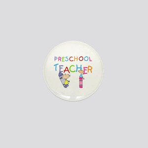 Crayons Preschool Teacher Mini Button