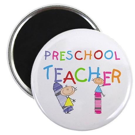 Crayons Preschool Teacher Magnet