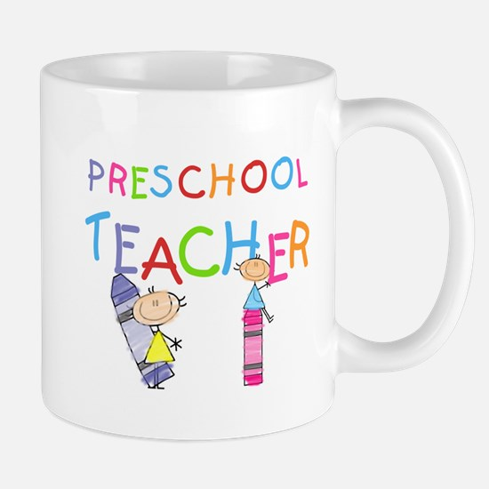 Crayons Preschool Teacher Mug