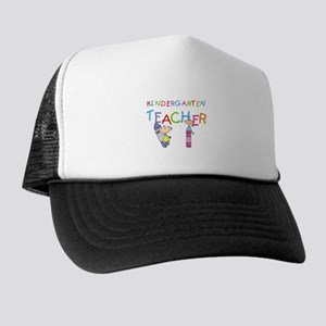 Crayons Kindergarten Teacher Trucker Hat