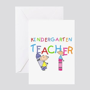 Crayons Kindergarten Teacher Greeting Card
