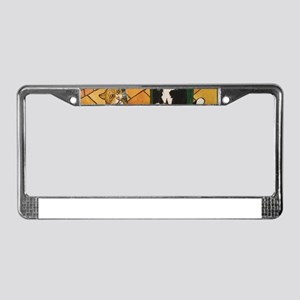 Spring Lunch Cats License Plate Frame