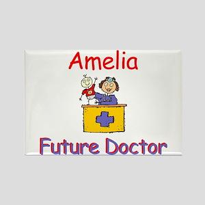 Amelia - Future Doctor Rectangle Magnet