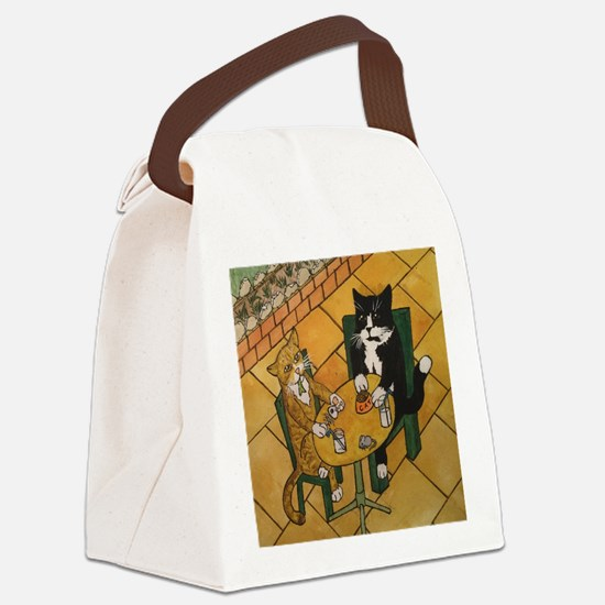 Spring Lunch Cats Canvas Lunch Bag