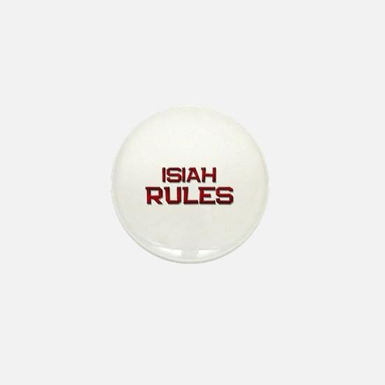 isiah rules Mini Button