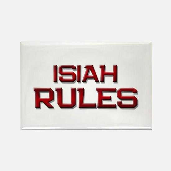 isiah rules Rectangle Magnet