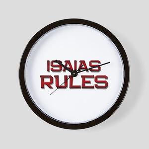isaias rules Wall Clock
