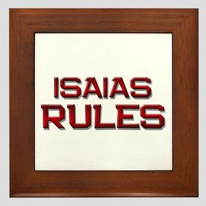 isaias rules Framed Tile