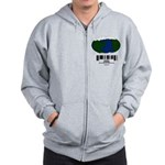 Earth Day UPC Code Zip Hoodie