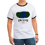 Earth Day UPC Code Ringer T