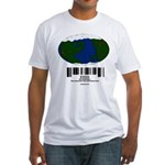 Earth Day UPC Code Fitted T-Shirt