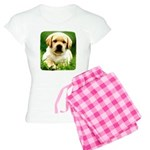 Yellow Labrador Puppy Wms Pajamas