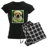 Yellow Labrador Puppy Dark Wms Pajamas