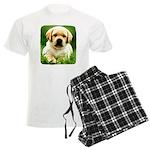 Yellow Labrador Puppy Mens Pajamas