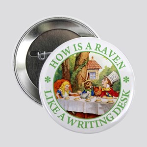 """MAD HATTER'S RIDDLE 2.25"""" Button"""