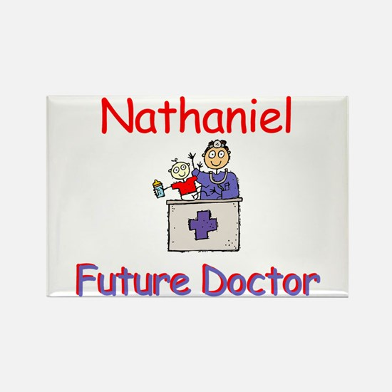 Nathaniel - Future Doctor Rectangle Magnet