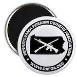 PAFOA Logo (Black) Magnets