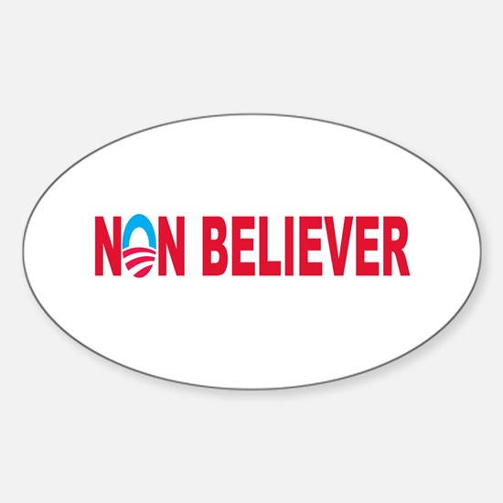 """""""NonBeliever"""" Oval Decal"""