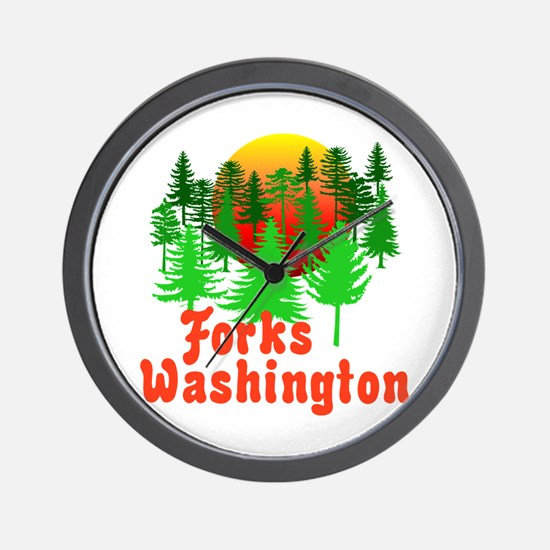 Forks Washington Twilight Wall Clock