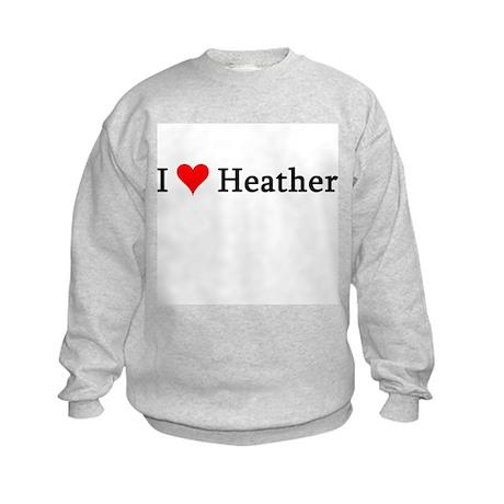 I Love Heather Kids Sweatshirt