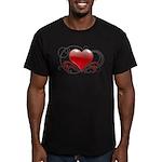 Love Swirls Men's Fitted T-Shirt (dark)