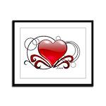 Love Swirls Framed Panel Print