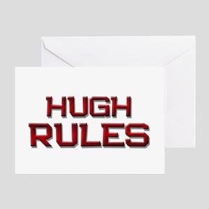 hugh rules Greeting Card