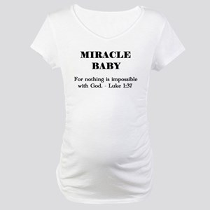 Miracle Baby Maternity T-Shirt (white or pink)