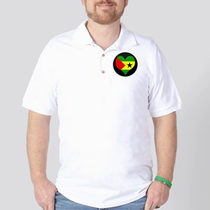 I love SAO TOME AND PRINCIPE Golf Shirt