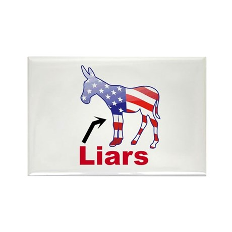 """Liars"" Rectangle Magnet"