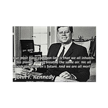 Humanist John F. Kennedy Rectangle Magnet (10 pack
