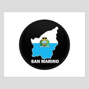 Flag Map of San Marino Small Poster