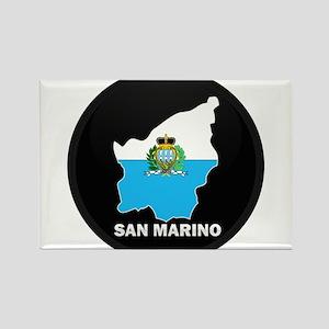 Flag Map of San Marino Rectangle Magnet