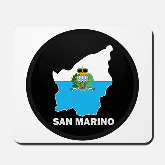 Flag Map of San Marino Mousepad