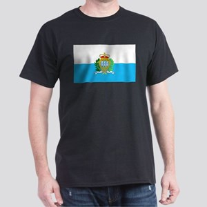 San Marino Flag Dark T-Shirt