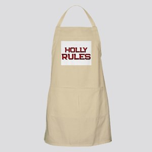 holly rules BBQ Apron