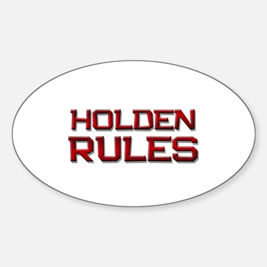 holden rules Oval Decal