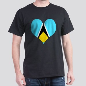 I Love Saint Lucia Dark T-Shirt