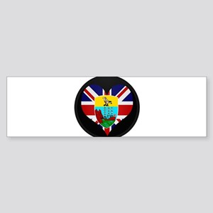 I love Saint Helena Flag Bumper Sticker