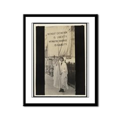 NWP Picketing for the Vote Framed Panel Print