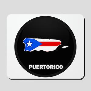 Flag Map of PUERTO RICO Mousepad