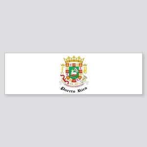 Puerto Rican Coat of Arms Sea Bumper Sticker