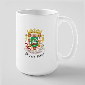 Puerto Rican Coat of Arms Sea Large Mug