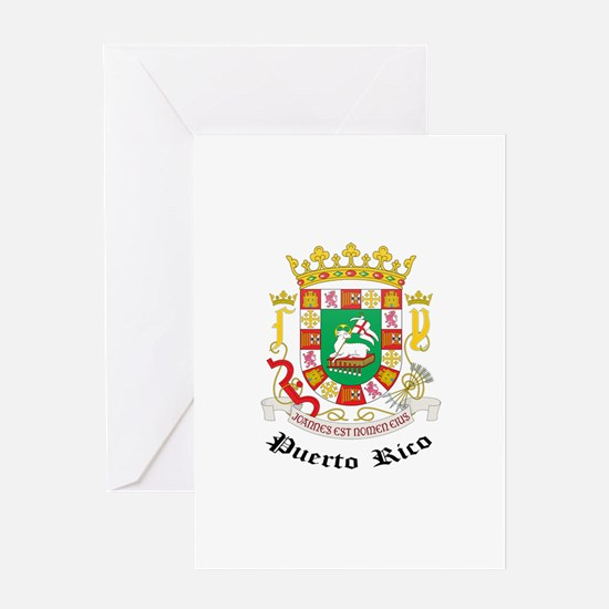 Puerto Rican Coat of Arms Sea Greeting Card