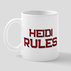 heidi rules Mug
