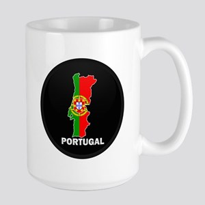 Flag Map of Portugal Large Mug