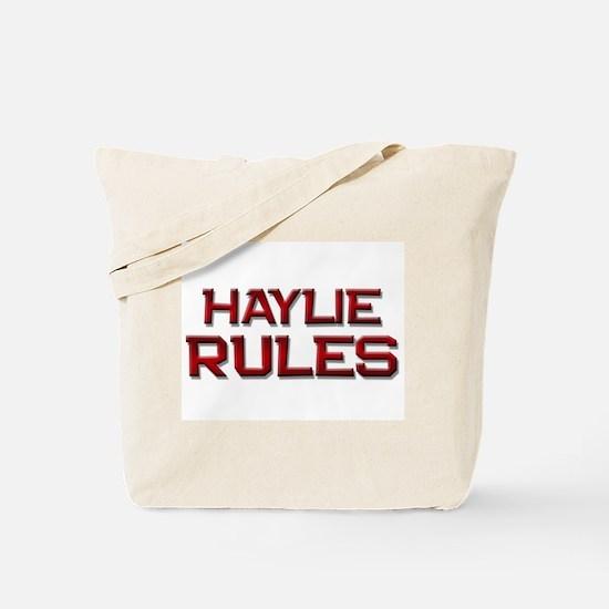haylie rules Tote Bag