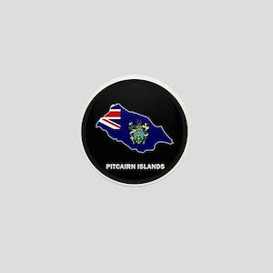 Flag Map of Pitcairn Islands Mini Button