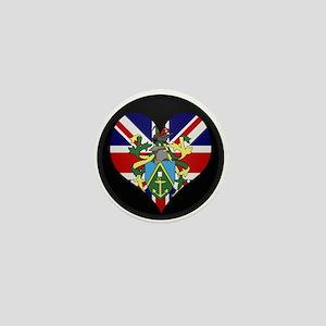 I love Pitcairn Islands Flag Mini Button